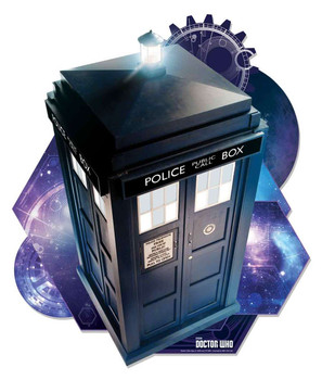 The Tardis from Doctor Who Wall Mounted Official Cardboard Cutout