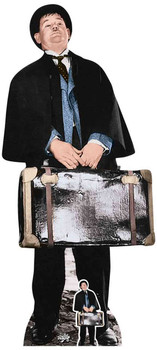 Oliver Hardy with Mini Cardboard Cutout