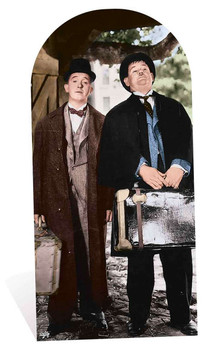 Laurel and Hardy Faces Stand in Lifesize Cardboard Cutout