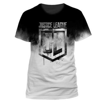 Justice League Jumbo Logo Sublimation Official Movie Unisex T-Shirt