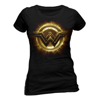 Justice League Wonder Woman Logo Official Fitted Ladies T-Shirt