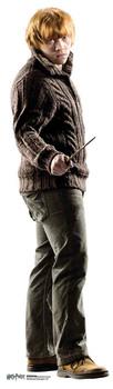 Ron Weasley holding wand Mini Cardboard Cutout / Standup