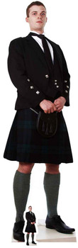 Scottish Man in Kilt Lifesize Cardboard Cutout / Standup / Standee