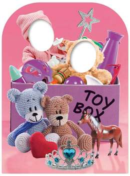 Girls Toy Box Child Size Stand In Cardboard Cutout / Standee
