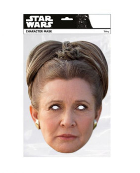 Princess Leia Organa Star Wars The Last Jedi  Single 2D Card Party Face Mask