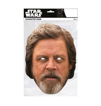 Luke Skywalker The Last Jedi Single 2D Card Party Face Mask