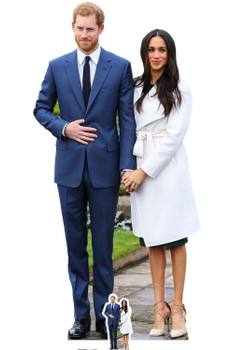 Prince Harry and Meghan Markle Engagement Style Cardboard Cutout / Standup