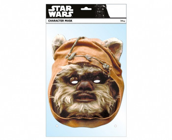 Wicket the Ewok Official Star Wars Single Card 2D Party Face Mask