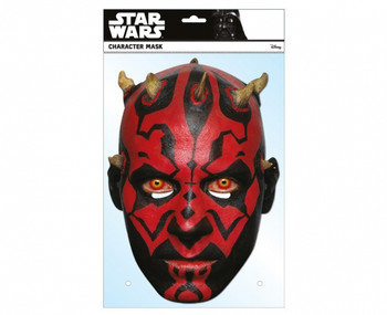 Darth Maul Official Star Wars Single Card 2D Party Face Mask