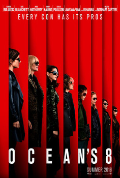 Ocean's 8 Original Movie Poster - Double Sided Advance Style