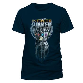 Avengers: Infinity War Infinite Power Glove Official Blue Unisex T-Shirt