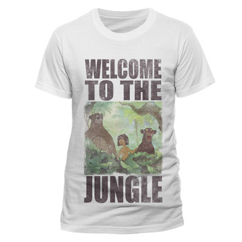 The Jungle Book Welcome To The Jungle Official Unisex White T-Shirt