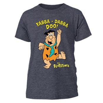 The Flintstones Yabba Dabba Doo Official Unisex Grey T-Shirt