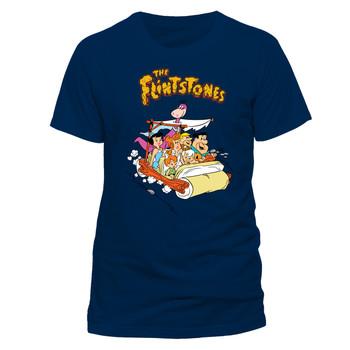 The Flintstones Car Official Unisex Blue T-Shirt