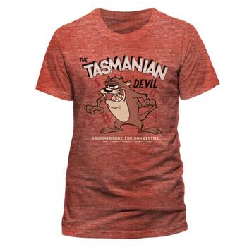 Looney Tunes Tasmanian Devil Official Unisex Red T-Shirt