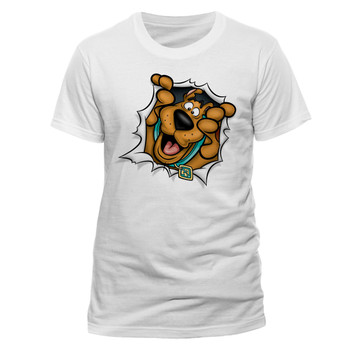 Scooby-Doo Rip Through Official Unisex White T-Shirt