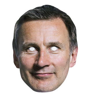 Jeremy Hunt British Politician 2D Card Party Face Mask