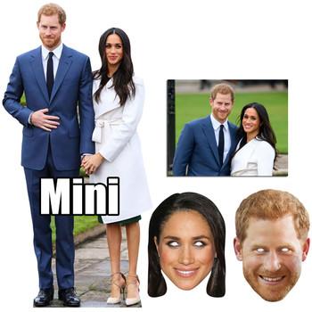 Royal Wedding 2018 Prince Harry & Meghan Markle Cutout & Mask Bronze Package