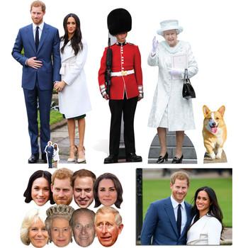 Royal Wedding 2018 Prince Harry & Meghan Markle Cutout & Mask Gold Package