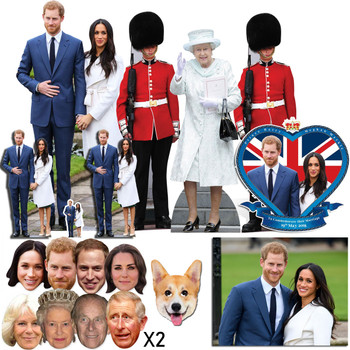 Royal Wedding 2018 Prince Harry and Meghan Markle Cutout and Mask Platinum Package