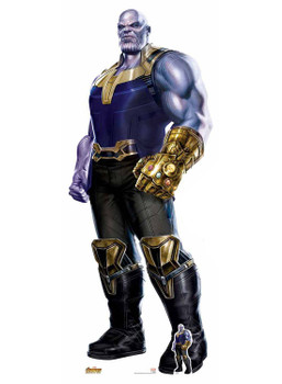 Thanos Wearing Infinity Gauntlet Avengers Infinity War Cardboard Cutout