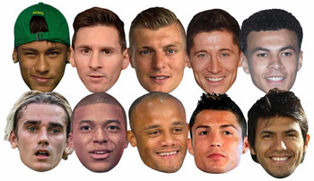 Football World Cup Super Party Mask 10 Pack
