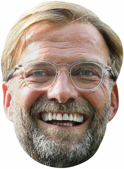 Jurgen Klopp 2D Single Card Party Face Mask