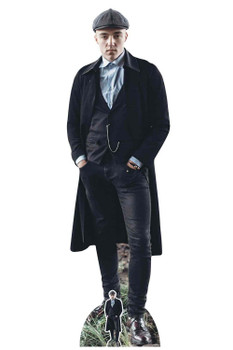 Peaky Blinders Style Gangster with Watch Chain Cardboard Cutout