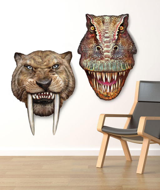 Sabre Tooth Tiger 3d Effect Pop Out Cardboard Cutout Wall