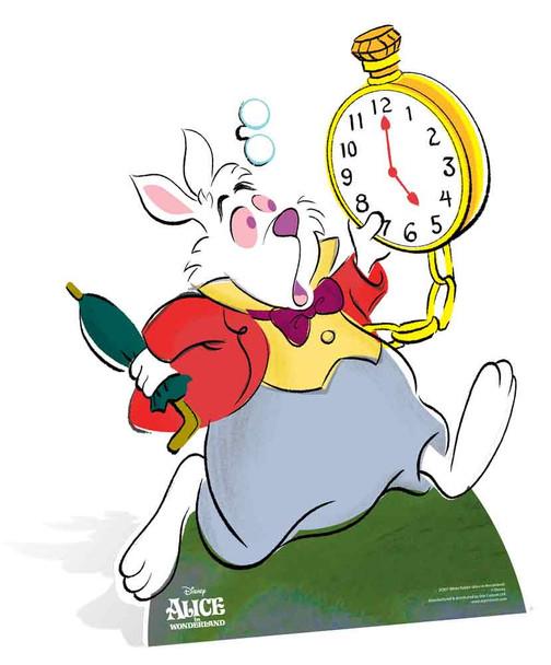 White Rabbit from Alice In Wonderland Disney Lifesize Cardboard Cutout