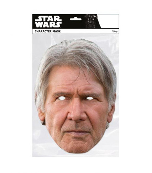Han Solo Single 2D Card Party Face Mask