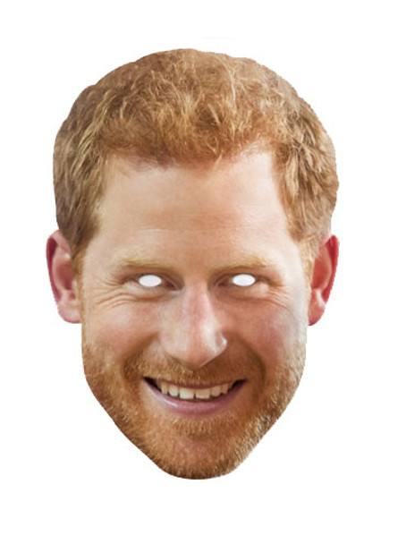 Prince Harry with Beard Royal Single Card Mask