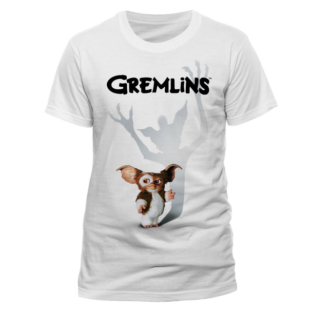 Gremlins Gizmo Shadow Official Unisex White T-Shirt