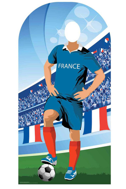 World Cup 2018 France Football Cardboard Cutout Stand-in