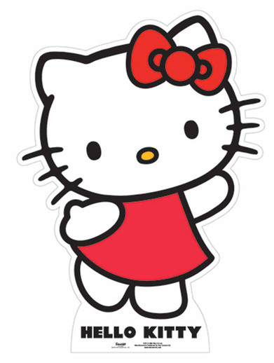 Official Hello Kitty Cardboard Cutout and Stand-in Now Available