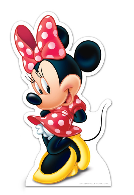Lifesize Cardboard Cutout Of Minnie Mouse Buy Disney