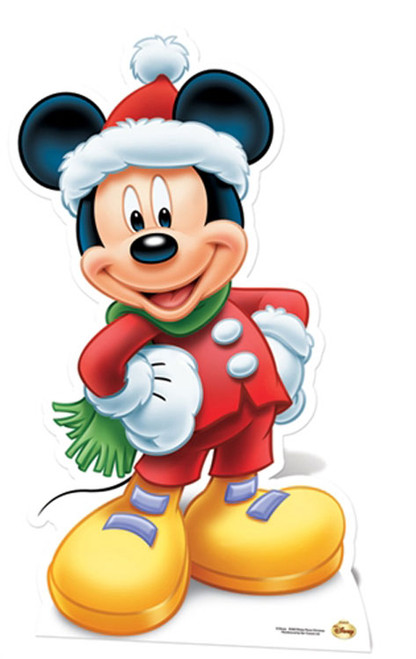 Lifesize Cardboard Cutout Of Mickey Mouse Santa Claus From