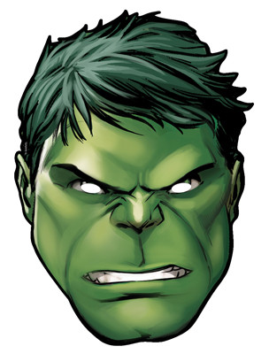 hulk from marvel s the avengers single card party face mask rh starstills com hulk face coloring pages printable Hulk Face Clip Art