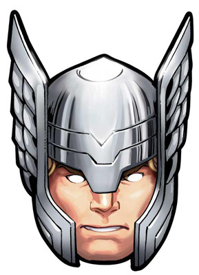 thor from marvel s the avengers single card party face mask rh starstills com Hammer Thor Face Hammer Thor Face
