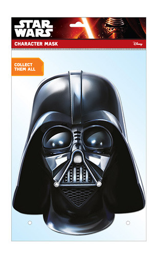 Darth Vader Official Star Wars Card Party Face Mask In