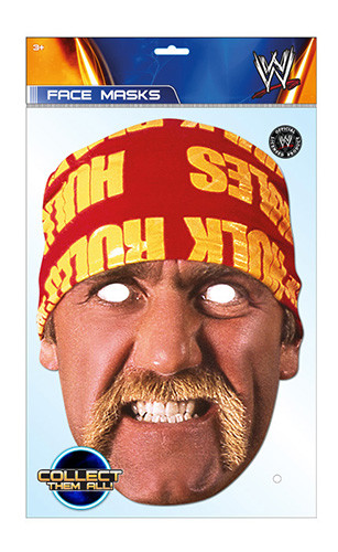 Hulk Hogan Wwe Official Wwe Card Party Face Mask In Stock Now With