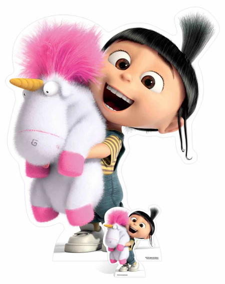agnes and fluffy unicorn despicable me 3 cardboard cutout