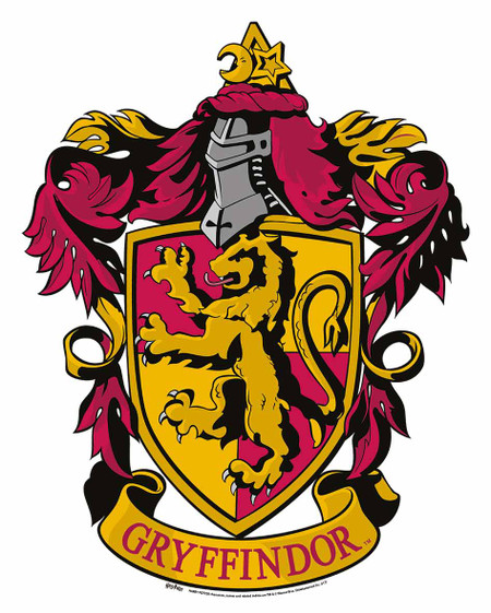 Punchy image throughout gryffindor crest printable