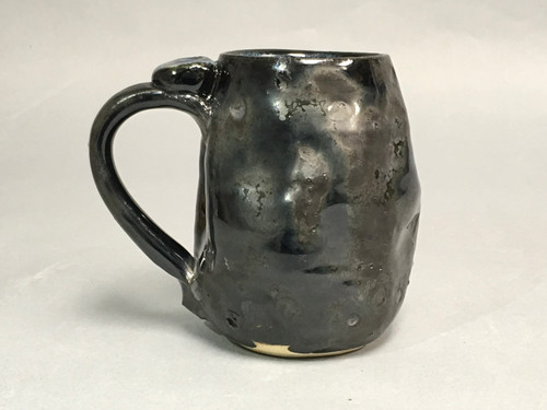 Meteor Mug with a Blue Nebula Interior, roughly 12-14 ounce size, (SK324)