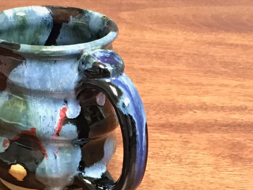 Cosmic Mug, roughly 12-13oz size, Inspired by a Star-Formation Nebula (SK722)