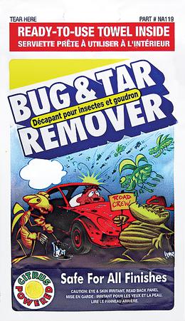 NA119   Bug & Tar Remover Towelette