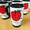 Personalised Teacher Travel Mug - Apple