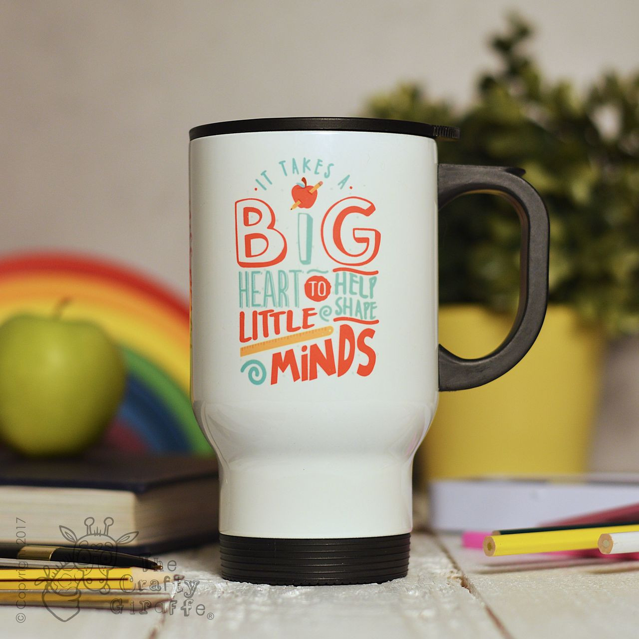 Personalised It takes a big heart to help shape little minds Travel ...