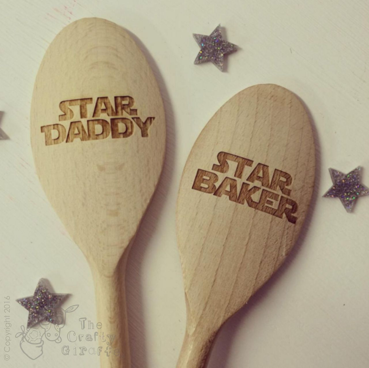 personalised star baker spoon the crafty giraffe