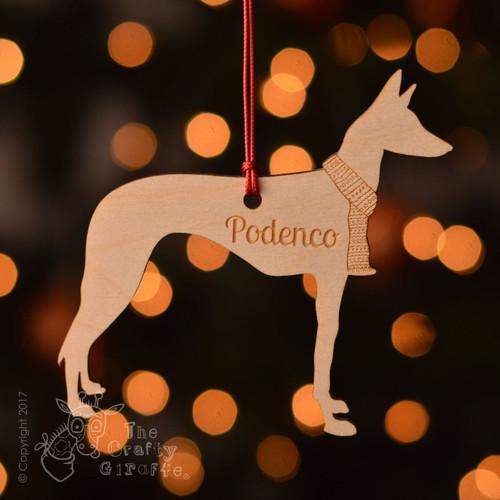 Personalised Podenco Decoration